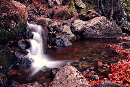 cascade: Autumn water cascade
