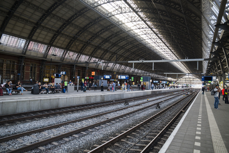 Central station without trains, Amsterdam, the Netherlands August 5th 2016