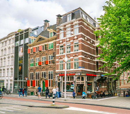 Amsterdam May 18 2018 - The Rembrandt House Museum where Rembrandt painted most of his paitings in the old Jewish quarter of Amsterdam