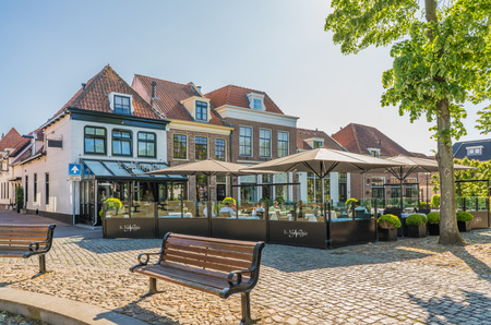 Harderwijk, The Netherlands May 5, 2018 - Two star Michelin Restaurant 't Nonnetje' waiting for the diner guests to arrive on a sunny liberation day Editorial