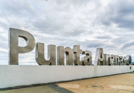 Punta Arenas, Chile landmark for tourist at the harbour of town