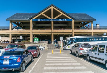 Bariloche, Argentina, 20th March 2019 - Exterior of the Bariloche airport in the famous Patagonia region of Argentina 에디토리얼