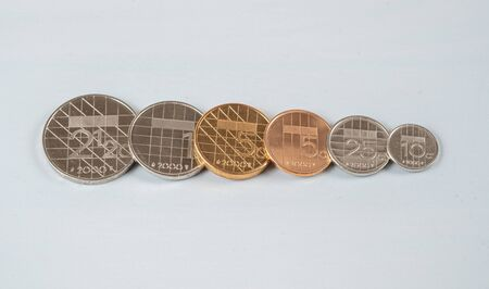 Dutch Guilders all coins, the former dutch official curency untill the Euro