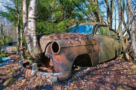 voiture ancienne: Car Old rouill�e