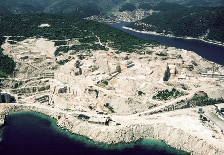brac: Marble quarry at Pucisca, Brac island, Croatia