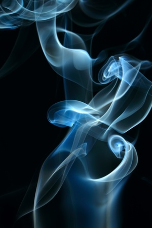 black background texture: Smoke background for art design or pattern