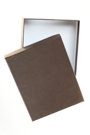 brown box: Open empty brown box on a white background