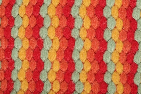 Colorful texture wool close up photo