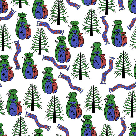 wrapping paper pattern: Christmas background, seamless tiling, great choice for wrapping paper pattern
