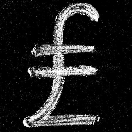 turkish lira: Hand-drawn money sign on chalkboard turkish lira. Elements for your design.