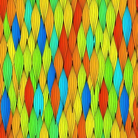 clots: Hand-drawn vector abstract waves seamless texture. Colorful waves backdrop.