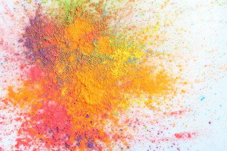 culture: Celebrate festival Holi. Indian Holi festival of colours Stock Photo