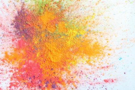 Feiern Fest Holi. Indian Holi Festival der Farben