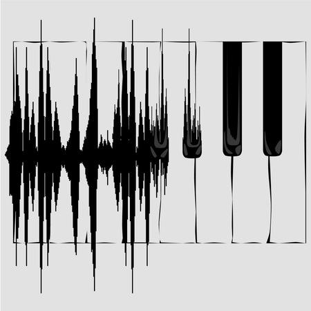 ピアノの鍵盤に音波変換。 コンセプトの背景