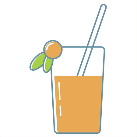Juice line icon. Thin line vector Juice line icon peefect for web and mobile applications, can be used as logo, pictogram, icon, infographic element. Vector Illustration. Illustration
