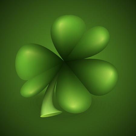 feuille de trèfle vert