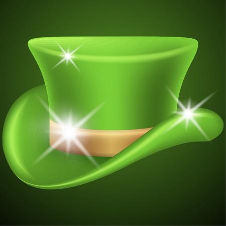 saint paddys day: Green leprechaun hat Illustration