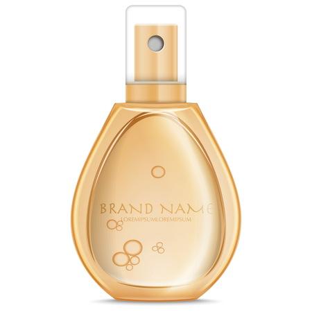 Botella de perfume realista Vectores