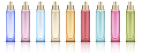 Colorful Cosmetic bottles set Illustration