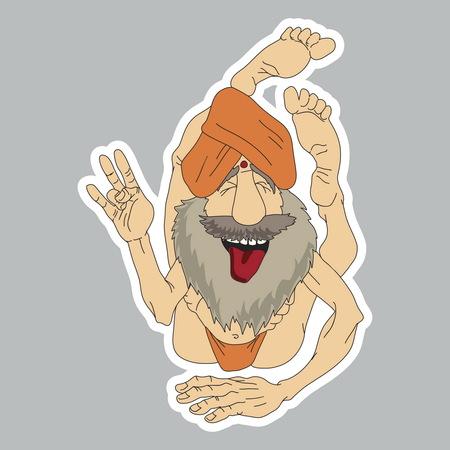 yogi: Funny Yogi sticker Illustration