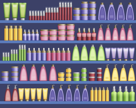aisle: Cosmetic supplies in the supermarket