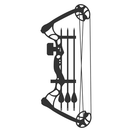 compound bow and arrow