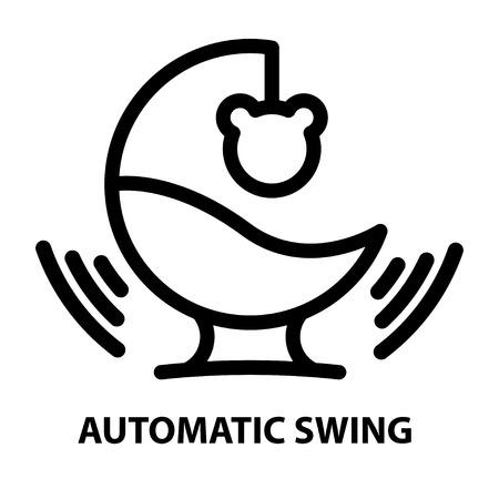 Child gadget swing Stock Vector - 89258755