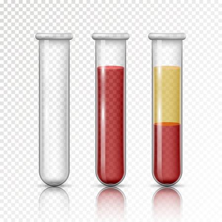Osocze i warstwy czerwonych krwinek Ilustracje wektorowe