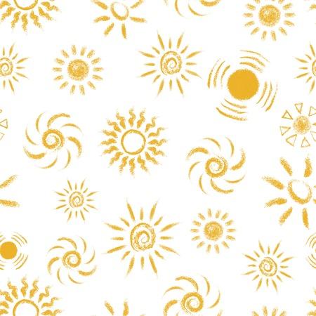 手描きチョーク ・ サンズ、ベクトル図のシームレスなパターン。