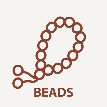 Beads icon in linear style. Beads logo template. Vector illustration.