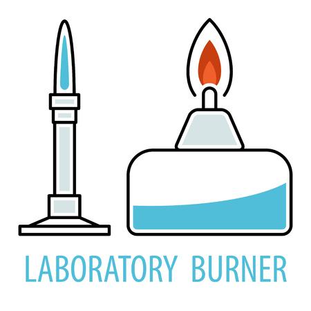 Chemical equipment burners Illustration