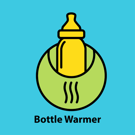 Bottle warmer icon Ilustração