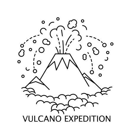 Aktives Vulkansymbol