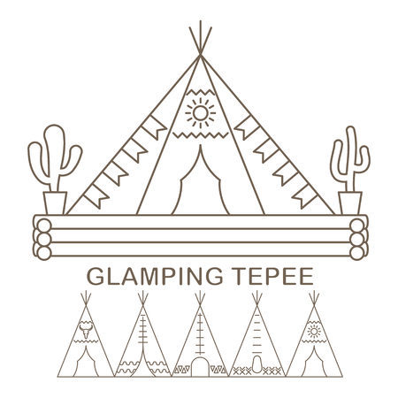 Tepee in linear Stock Vector - 105337695