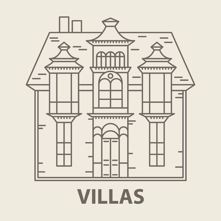 Glamping villa accomodation Illustration