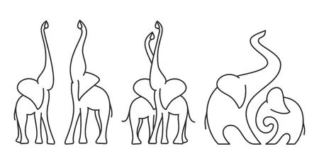 Logo template of elephant Illustration