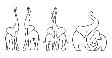 Logo template of elephant Illustration