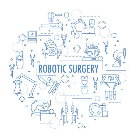Robotic surgery banner Vektorové ilustrace