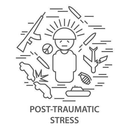 Pancartas para el trastorno de estrés postraumático