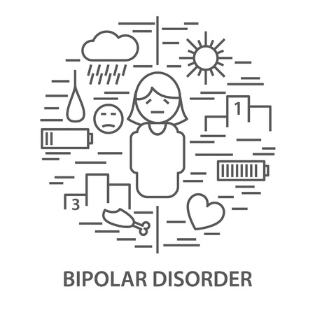 Banners for bipolar disorder Illustration
