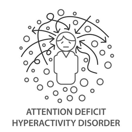 Banners para el TDAH Ilustración de vector