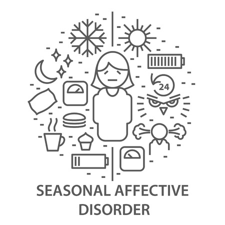 Banners for seasonal affective disorder 矢量图像