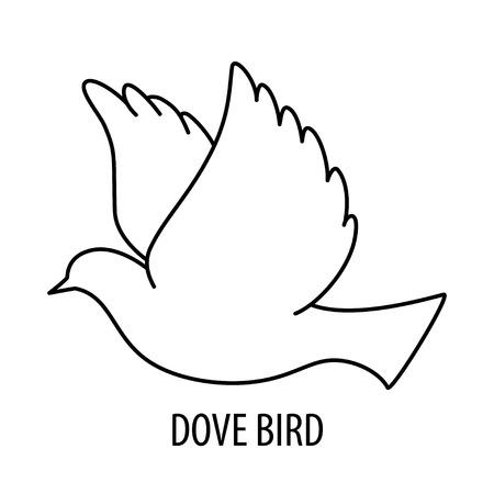 Dove bird icon
