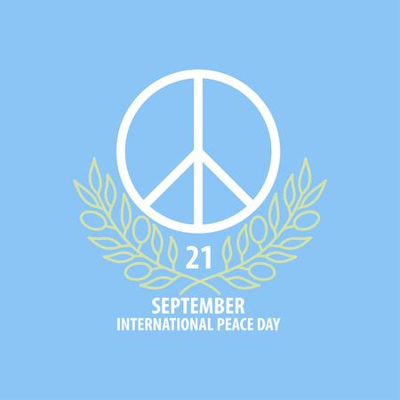 peace symbol banner  イラスト・ベクター素材