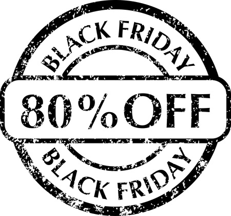 Black Friday rubber stamps