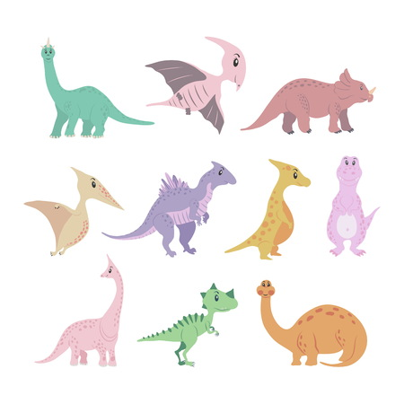 Dinosaurs colored set