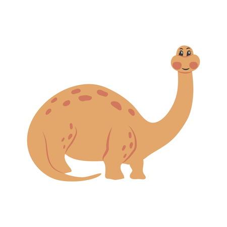 Dinosaur brachiosaurus cartoon