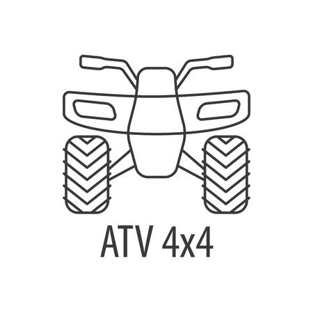 ATV bike template Ilustrace