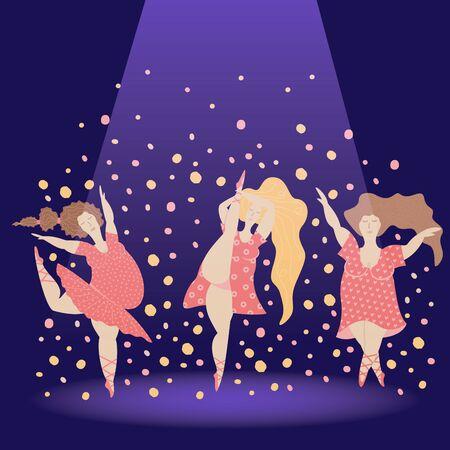 Body positive girl danse