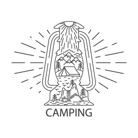 Rustic camping lantern